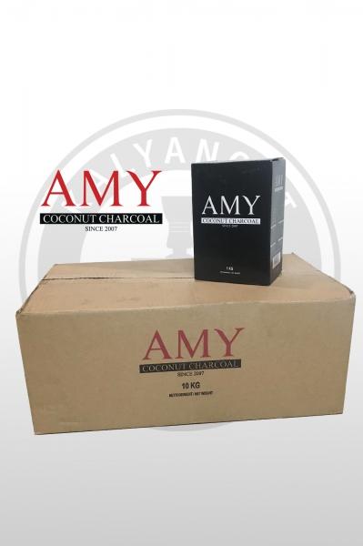 Кокосовый уголь AMY 10kg (10x1)