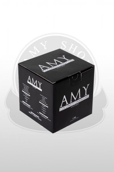 Кокосовый уголь AMY 20kg (20x1)26мм. кубик